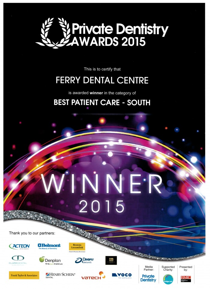 winner private dentistry awards