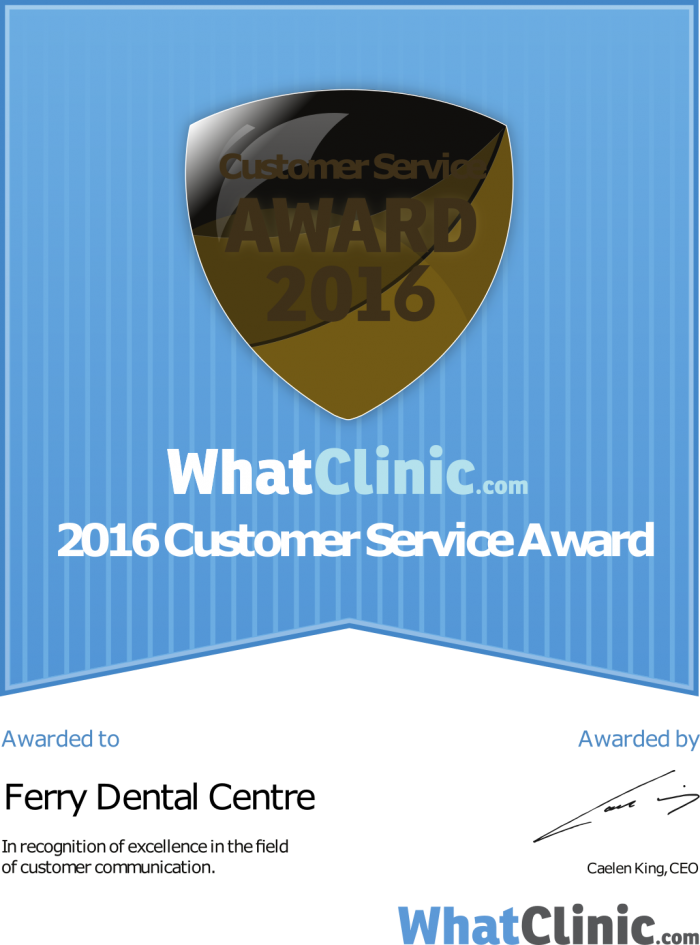 ferry dental what clinic award